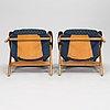 "Olof ottelin, a pair of 1950's ""mister"" armchairs for oy stockmann ab, keravan puusepäntehdas."