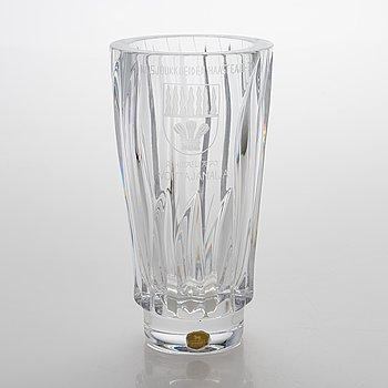 """Aimo Okkolin, vas, glas, """"Liekki"""", Riihimäen lasi."""