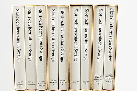 """Book 18 vol """"swedish castles and manors in sweden""""."""