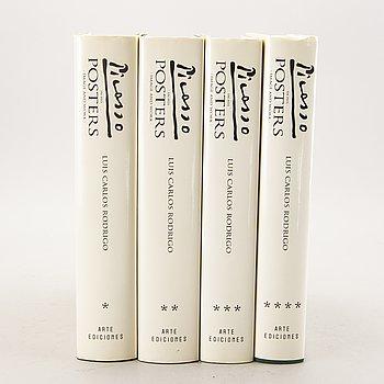 "Books, 4 vol, ""Picasso in his Posters"", Luis Carols Rodrigos Arte Ediciones, Barcelona, 1992."