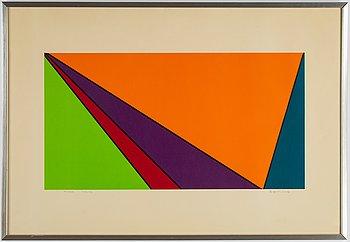 Olle Baertling, färgserigrafi, 1959-73, signerad 49/120.