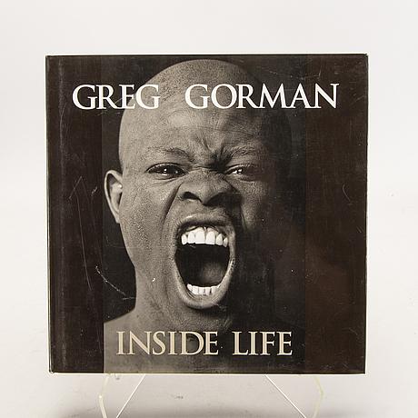 """Greg gorman, bok """"inside life"""", medföljande foto signerat."""