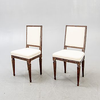 Stolar, ett par Louis XVI möjligen Danmark.