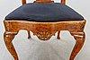 A louis xv chair mid 1700s.