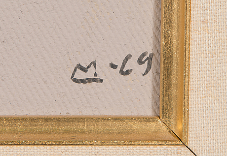 Lasse marttinen, oil on canvas, signed and dated -69.