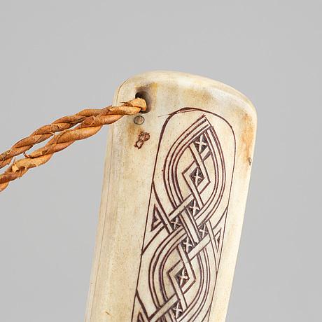 Esse poggats, a reindeerhorn sami knife, signed.