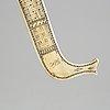 A reindeer horn sami knife, signed nb.
