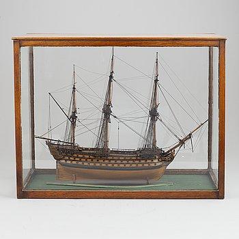 A 19/20th Century ship scale model.