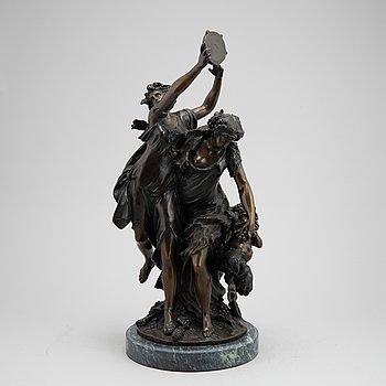 Claude Michel Clodion, after. Sculpture. Signed. Bronze. Height 59 cm.