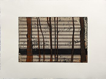 Kjell Nupen, a signed color etching.