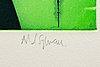 Astrid sylwan, färgetsning, signerad, e.a.-upplaga.