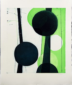 Astrid Sylwan, a signed color etching.