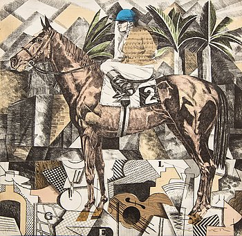 Fernando Bellver, a signed and numbered hand colored etching.