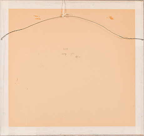Tuulikki pietilä, etching, signed and dated 1964, numbered 7/15 tpl'a.