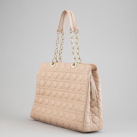 Christian dior, a pink leather 'lady dior' handbag, 2015.