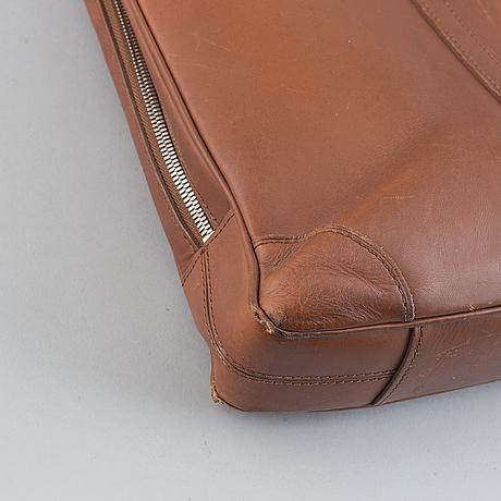 Louis vuitton, a brown leather briefcase, 2012.