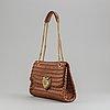 Dolce & gabbana, a brown woven leather 'devotion' handbag.