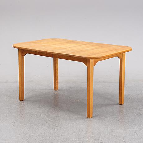 Carl malmsten, a six-piece birch dining suite 'lilla åland', stolab, 1991-2003.