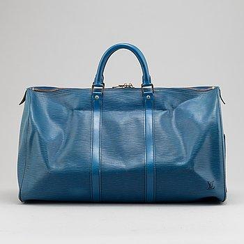Louis Vuitton, a blue 'Keepall 50' weekend bag, 1988.