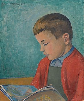 Eva Cederström, oil on canvas, signed and dated 1948.
