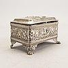 A 19th century probably german silver sugar bowl, weight 378 gr.