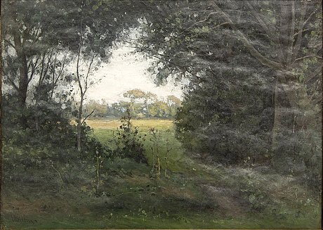 Per ekström, a signed and dated oil on canvas.
