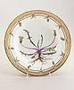 A pair of royal copenhagen flora danica porcelain plates later part of the 19th century.