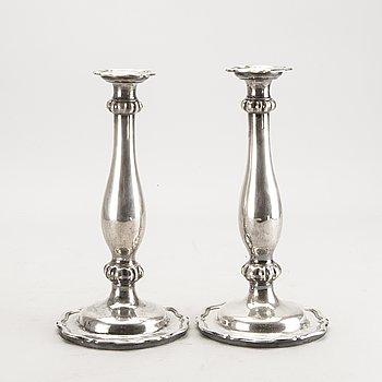 Ljusstakar, ett par, silver Wien 1852.