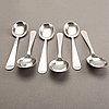A 20th century swedish set of six silver spoons mark of wiwen nilsson lund 1952 weight 318 gr.
