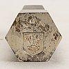 A swedish 20th century sterling seal mark of wiwen nilsson lund 1969.