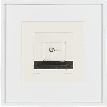 Pentti Kaskipuro, dry point etching, signed and dated 1973, marked epreuve d'artiste V.