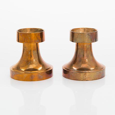 Bertel gardberg, a pair of candlesticks for boda finland.
