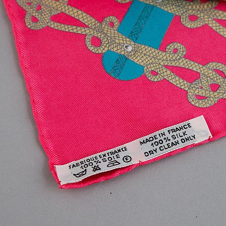 Hermès, a 'circus' silk scarf.