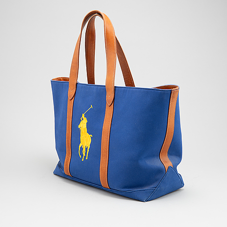 Ralph lauren, a canvas tote bag.