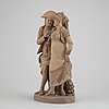 A terracotta sculpture by antonio peñas y leon, spain, 1883.
