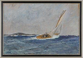 Rikard Lindström, oil on panel, signed.