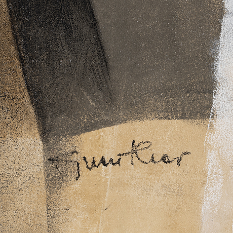 Guenther leyen, acrylic on canvas, signed and dated 2003 on verso.