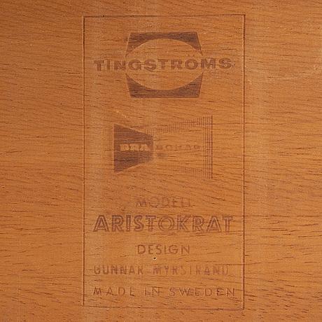 A teak coffee table by engström & myrstrand, mid 20th century.