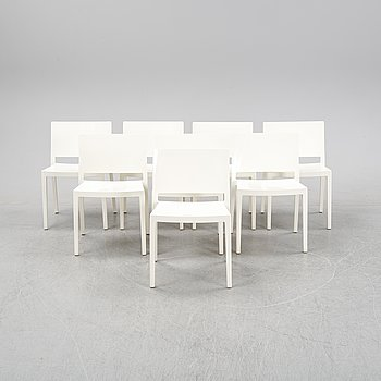A set of eight 'Lizz' chairs by Pieor Lizzoni & Carlo Tamborinin for Kartell.