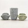 """A set of four gunnar nylund """"eklöv""""vases from rörstrand."""