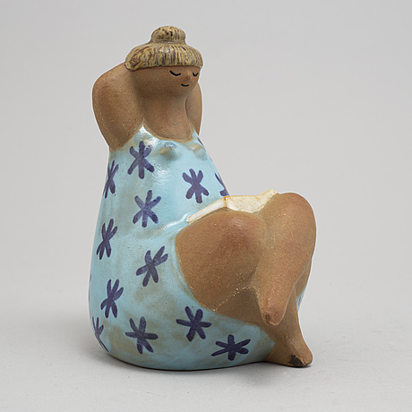 Lisa larson, an 'emma' stoneware figurine, gustavsberg.