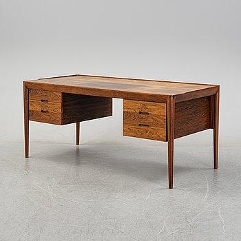 Erik Riisager-Hansen, a model 66 palisander desk, Haslev Møbler Denmark 1960s.
