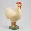 Lisa larson, a stoneware figurine of a rooster, k-studion, gustavsberg.
