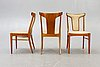 A set of four bodafors teak chairs mid 1900s.