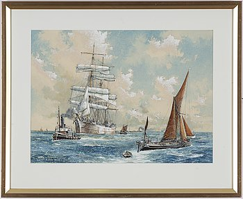 Ronald Dean, watercolour, signed.