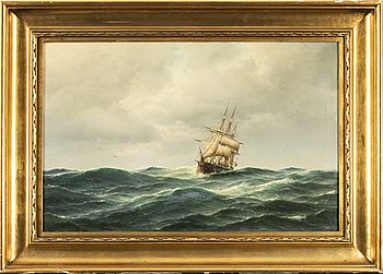 Carl Bille, oil on canvas, signed.