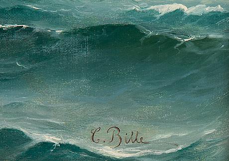 Carl bille, olja på duk, signerad.