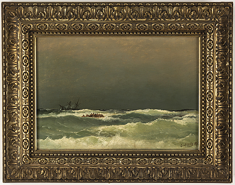 Carl bille, oil on canvas, signed and dated 1874.