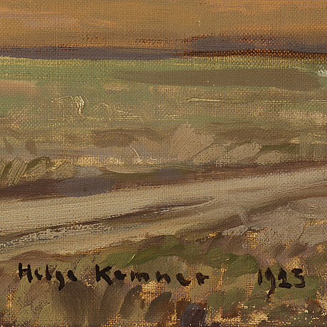 Helge kemner, oil on canvas, signed and dated 1923.