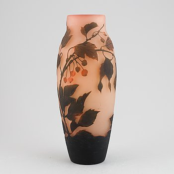 An Art Nouveau cameo glass vase, Arsale, early 20th Century.
